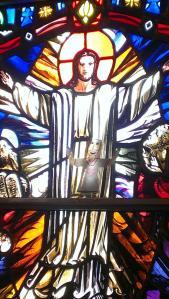 dennis flat jesus stain glass